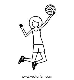 Girl playing volleyball design