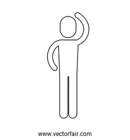 Isolated and silhouette pictogram design