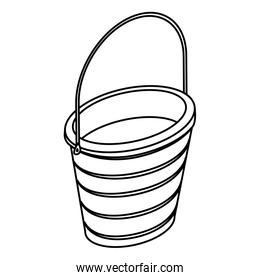 Isolated and silhouette sand bucket design