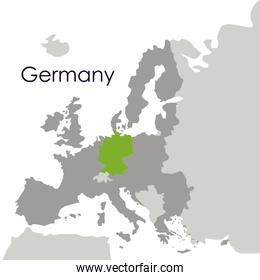 Isolated germany map design