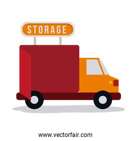 Truck of delivery and storage concept