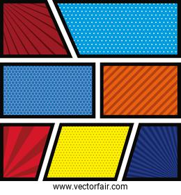 background colorful abstract in pop art variety figures