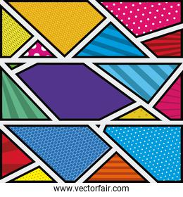 background colorful abstract in pop art with shapes irregular