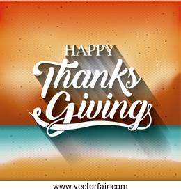 Blurred background of Thanks given design