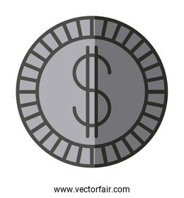Isolated coin design
