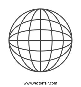 Global sphere of broadcasting concept