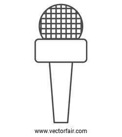 Microphone of broadcasting concept