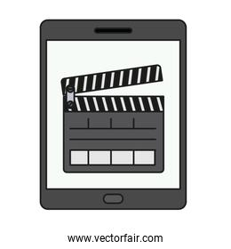 Isolated clapboard and tablet design