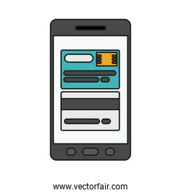Isolated credit card and smartphone design