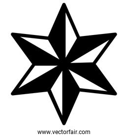 Isolated striped star design