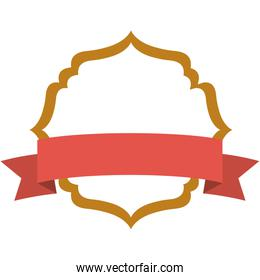 Isolated decoration frame with ribbon design