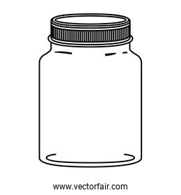silhouette jar of jam with lid
