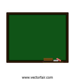 colorful silhouette with green board for classes