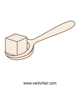 Isolated sugar and spoon design