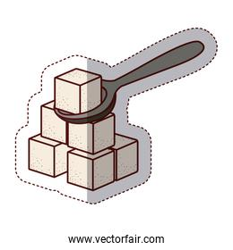 Isolated sugar and shovel design
