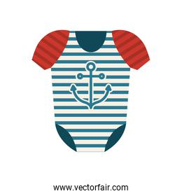 Isolated baby cloth design