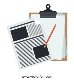 Isolated document of office design