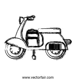 Isolated motorcycle design