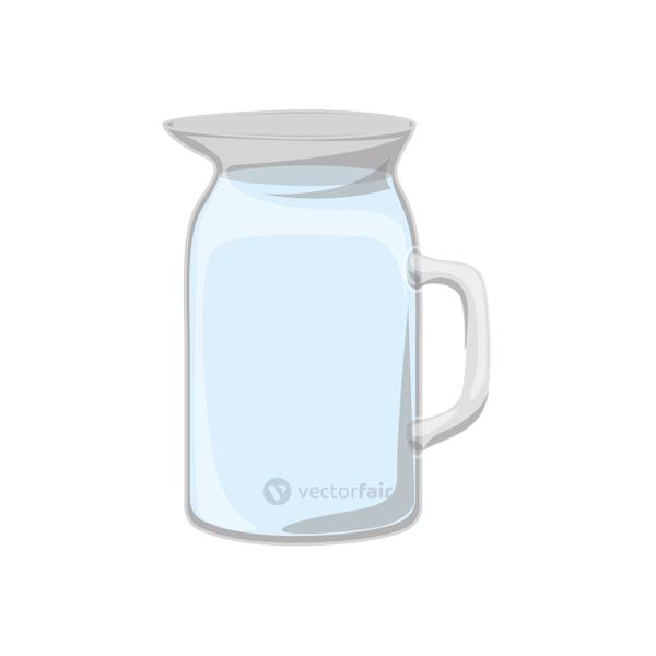 Isolated glass pitcher design