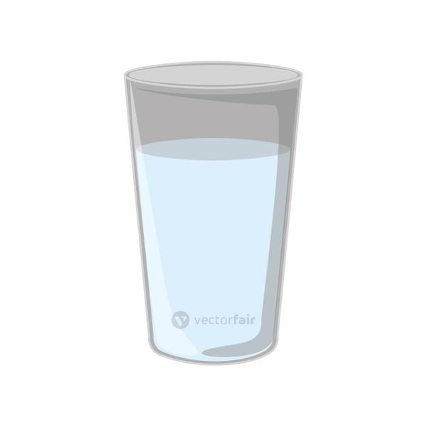Isolated drink glass design