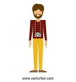 Isolated hipster man design