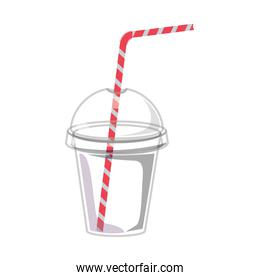 Glass with drinking straw design