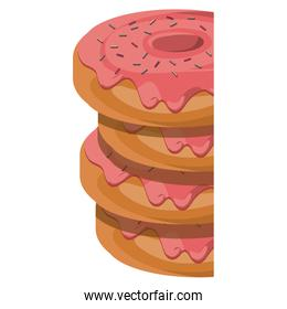 Isolated donut design