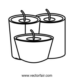 Isolated candle design