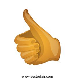 Isolated thumbs up design