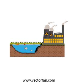 Isolated factory and pollution design