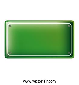 rectangle of road sign green
