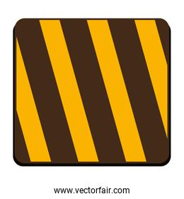 square of traffic barrier icon