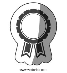 sticker monochrome medal with ribbons