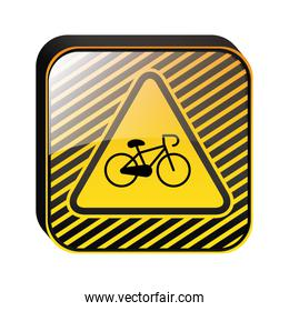 road signs design with bicycle