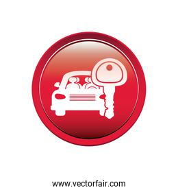 button with car and key