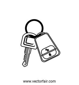 silhouette key ring with alarm system