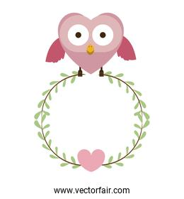 pink bird shaped heart icon