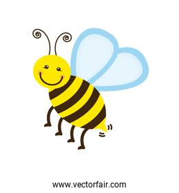 colorful bee icon stock