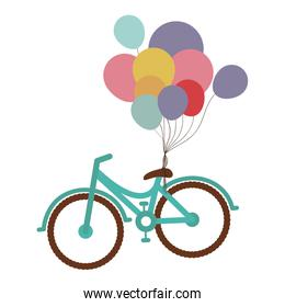 bicycle with balloons icon image