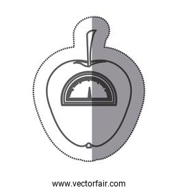 figure apple weight scale icon