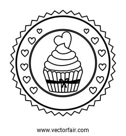 emblem muffin cupcakes icon design
