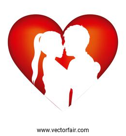 people in love couple icon