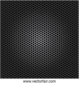 metallic grill perforated background design