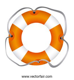 colorful flotation hoop with lasso