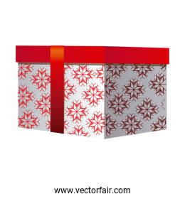 box gift christmas decorative with red ribbon