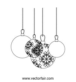 figure christmas balls hanging icon