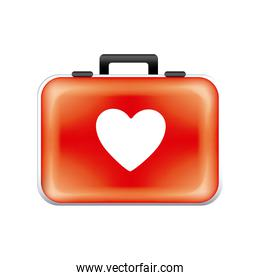 red sticker suitcase icon