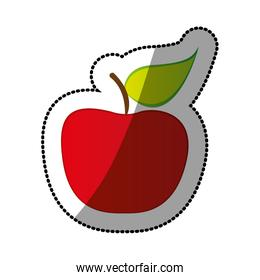 colorful apple fruit icon stock