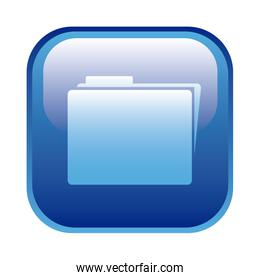 blue square frame with folder icon