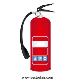 colorful realistic fire extinguisher icon